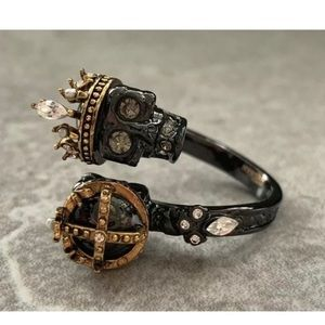 Alexander McQueen Skull King Queen Ring Adjustable